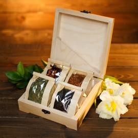 Корпоративный подарок «Подарочный ларец с чаем ELITE TEA BOX» (подарок с брендированием)