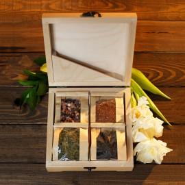 Elite TeaBox (светлый ларец из массива березы с элитным чаем)