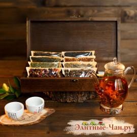 Elite TeaBox premium (ларец из массива березы с элитным чаем премиум)