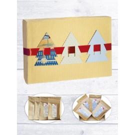 """Новогодний подарок на Новый Год 2019 набор Элитных чаев """"Новогодняя удача"""", в подарочном наборе 4 чая"""