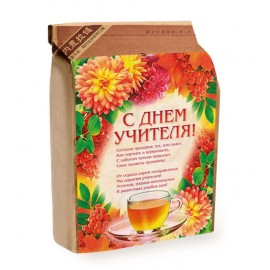 Подарочный набор на день Учителя: 2 элитных чая и Варенье из сосновых шишек