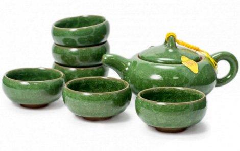 Набор для чаепития (7 предметов, цвет светло-зеленый)